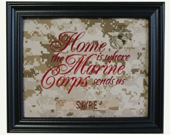 Home is where the Marine Corps sends us - Camo Fabric Mat