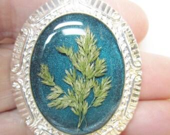 Grasses, Pressed Flower Pendant, Real Flowers, Resin. Pressed Flower Jewelry(1237)