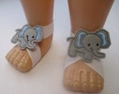 Little Baby Elephant  baby barefoot sandals