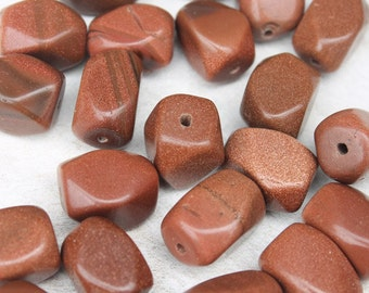 Goldstone Beads, Gemstone Beads, Goldstone Nuggets, Jewelry and Beading Supplies