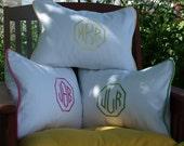 Monogrammed Pillow , Monogram Pillow, Personalized Kids Pillow, Dorm Decor, Monogrammed Wedding Gift , Nursery Pillow