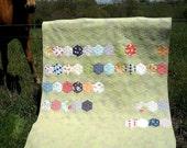 What The Hex Modern Hexagon Patchwork Quilt PDF Pattern
