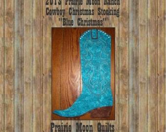 Cowboy Boot Christmas Stocking Pattern, 2013 Print version