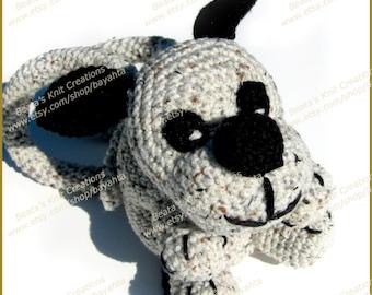 Crochet Dog Bag Purse Handbag Beige Brown