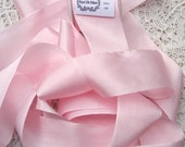 Pure Silk Ribbon Pale/Pink  Color 1 1/2 inch  36mm wide 5 yards