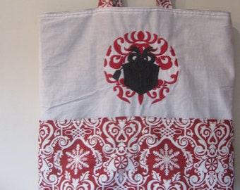 Damask Christmas Present Eco Friendly Tote - Shopping Bag