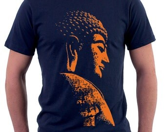 Buddha printed on Navy by Chill Clothing Co
