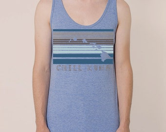 Chill Kona printed on American Apparel Tank