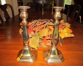 Reduced Price Art Deco Brass Candlesticks