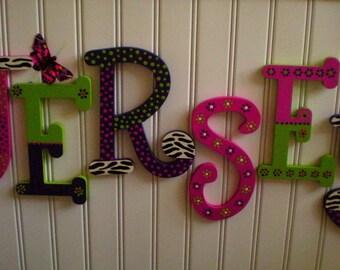 Zebra Print Letters - Girl Name Letters - Nursery Letters - Animal Print - Kids Room Decor