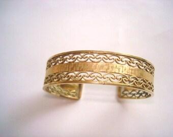 Filigree  Gold Tone  Bracelet