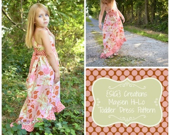 INSTANT Download PDF SIG Maysen Hi-Lo Dress Pattern - Size 12 month to 5 youth