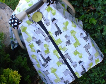 Car seat canopy Giraffee  , carseat cover , car seat cover , car seat canopy , nursing cover