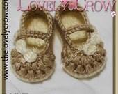 Baby Booties Crochet Pattern LITTLE BO PEEP Mary Janes
