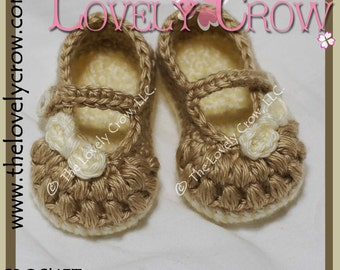 Baby Booties Crochet Pattern LITTLE BO PEEP Mary Janes