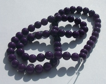 Jade, Mountain Gemstone Round beads 1 strand PURPLE Available in 4mm, 6mm, 8mm and 10mm