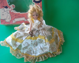 Vintage Collectible Duchess Walt Disney Cinderella Doll 137 1940's