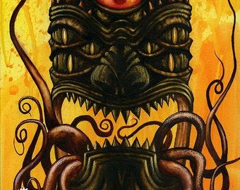 Lovecraftiki Original Painting by Chad Savage