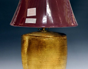 Lamp gilded  table and bedside lamp base custom made by hand for home decoration and decor