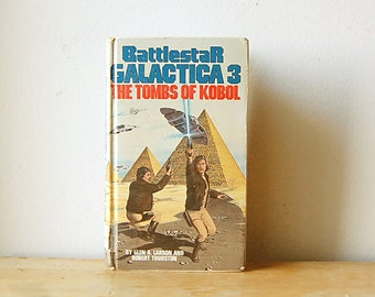 Vintage Collectible SciFi Book Battlestar Galactica 3 Original Series The Tombs of Kobol Library Hardcover 1979