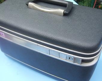 Vintage Samsonite Train Case Blue Gray