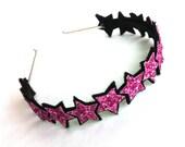 SALE Glitter stars headband - choice colours and rainbow