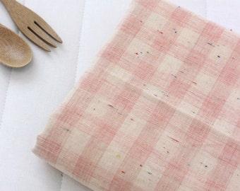 Popcorn style Pink Check Gauze cotton, U7177