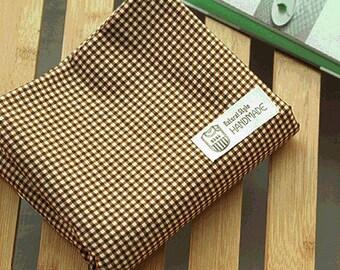 Lovely Murky Brown check Cotton, U7223