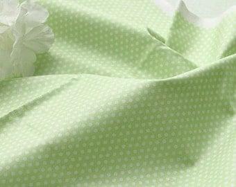 Petit Dots on Soft Green cotton, U031