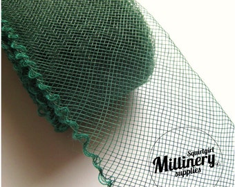 3 Yards Forest Green 2 inch wide Crin Crinoline Horsehair Braid for Hats and Fascinators