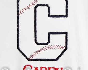 Personalized Baseball Initial Shirt, Monogrammed, Custom Fabrics, Colors, and Font, Custom Fabric Choices and Colors, Boys Birthday Shirt