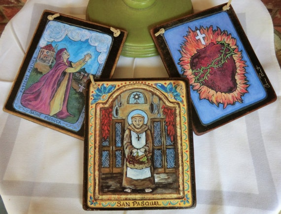Favorite 3 Saint Retablos collection pick any 3 Saints great  family gift idea for any occasion