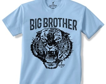 BIG BROTHER TIGER -- Kids T shirt -- Size 2t, 3t, 4t, youth xs, yth sm, yth med, yth lg skip n whistle