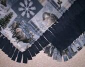 Fleece Blanket - Animals - Winter Wildlife