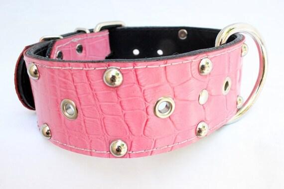 Pink Dog Collar Alligator
