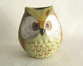 Owl Stoneware Planter - Vintage Owl Planter
