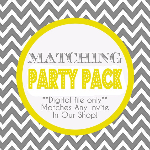 Matching Party Pack - All Printable Files