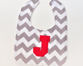 Personalized Toddler Bib Baby First Birthday Bib Chevron Zig Zag Baby Accessories Baby Bib, Gender Neutral