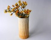 Mustard Yellow ombre Vase / golden yellow home decor / handcrafted vase / mustard yellow home vase