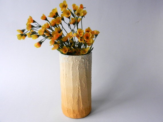 Mustard yellow ombre vase golden yellow home decor - Decorating with mustard yellow ...