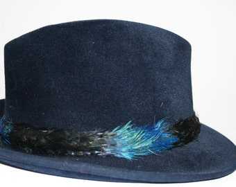 Vintage Fedora By Cavanagh Gorgeous Blue