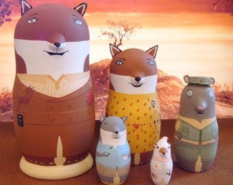 The Fantastic Mr. Fox Matryoshka Dolls