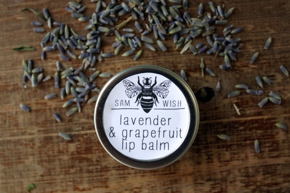 Lavender & Grapefruit Lip Balm // Tin // Organic