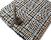 ipad Air  Case / Nexus 9 / Kindle Fire HDX / Galaxy Tab Sleeve 100%   English Wool Fabric
