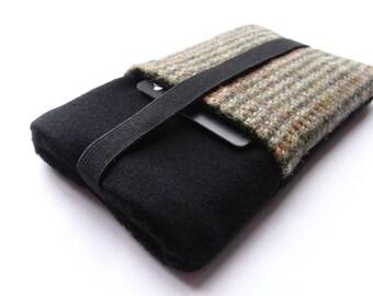 phone 6/7 samsung s6 Nexus 4 Case  Fabric Cover HTC One - Gray Wool Sleeve