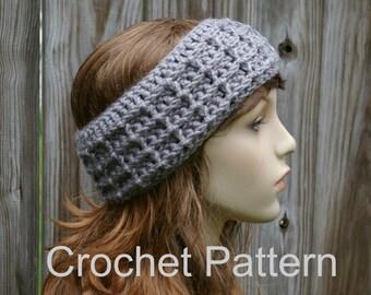 Crochet Pattern Headband Pattern Instant Download PDF Waffle Stitch