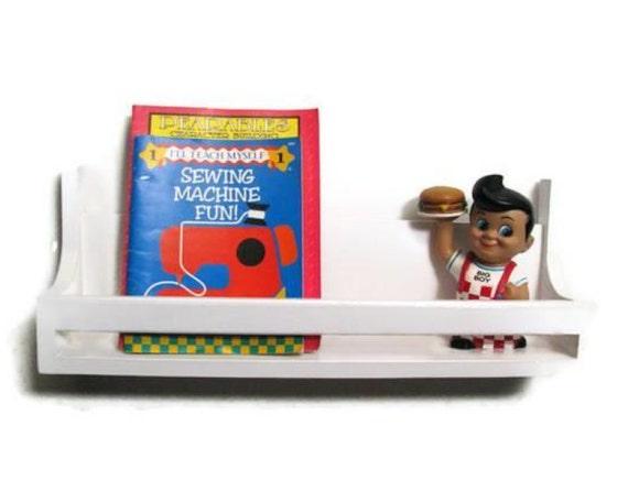 Big Boy Shelves - SET OF 2 White or Choose Your Colors Bookshelves or Wall Shelves, Children's Decor