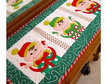 Jingle Jangle Elves- a new Christmas table runner pattern.