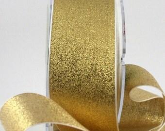 "Gold Metallic Ribbon, 1.5"" wide Ribbon by the yard, Weddings, Gold Ribbon, Christmas Ribbon, Gift Wrapping, Invitations, Sewing, Gold Trim"