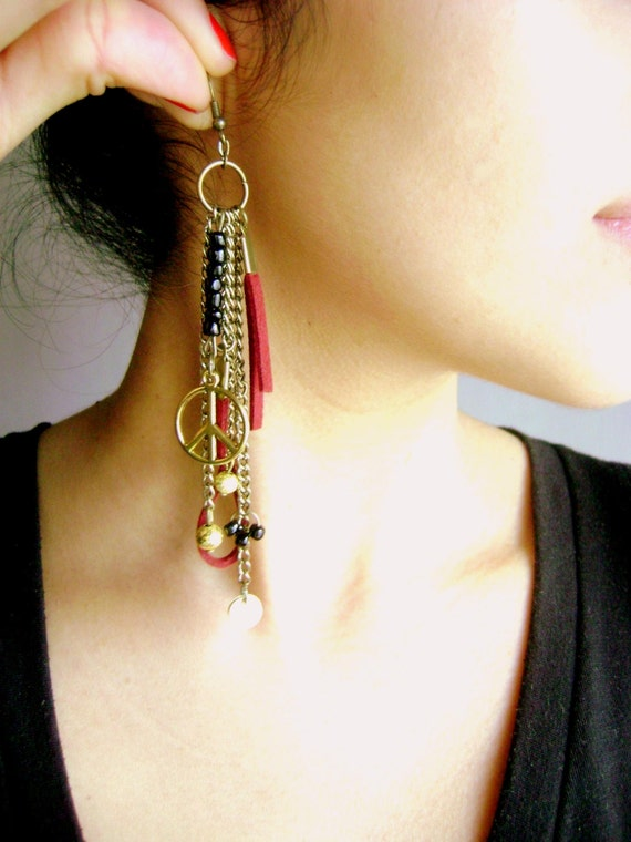 Bohemian style fringe earrings Entice boho style faux